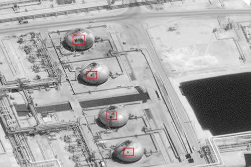 EE.UU. difunde imágenes que muestran la magnitud de la destrucción de los ataques a las refinerías sauditas