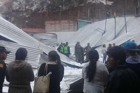 Sube a dos los escolares fallecidos por el desplome de tinglado en Sucre