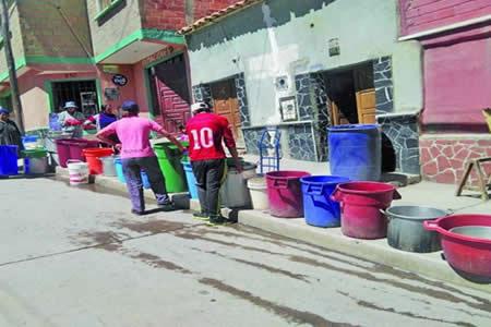 COD de Potosí se declara en estado de emergencia por la crisis de agua