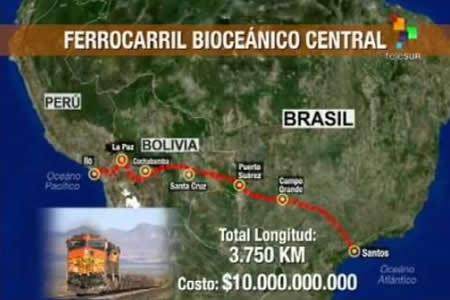 Claros: Inglaterra quiere sumarse al proyecto del tren bioceánico