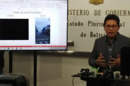 Gobierno denuncia plan de toma de instituciones en hechos de Santa Cruz
