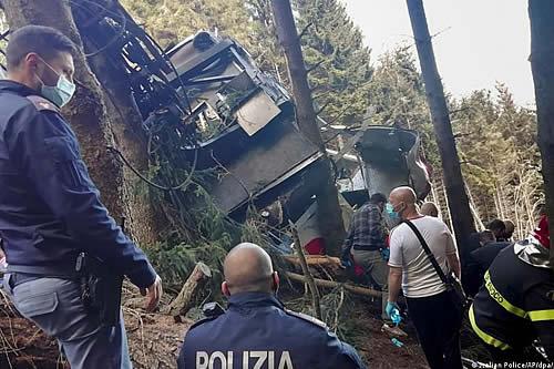 Italia: raptan a niño sobreviviente de caída de teleférico