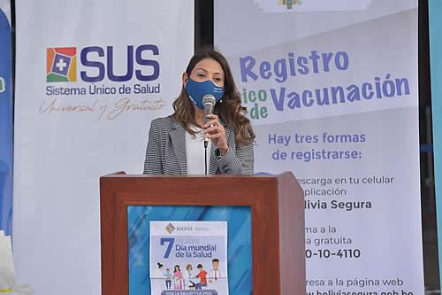 OPS/OMS felicita al Gobierno boliviano por logros en plan de vacunación anticovid