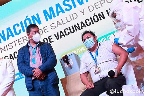 COVID-19: Hay más de 6 millones de vacunas disponibles y presidente Arce pide que gobiernos subnacionales agilicen inmunización