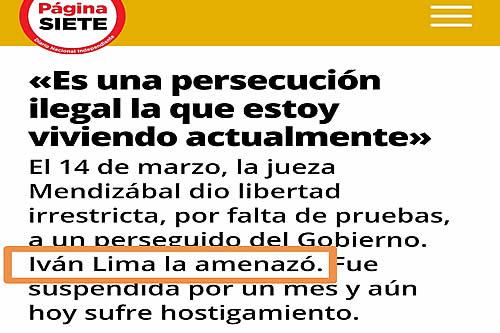 Ministro de Justicia pide rectificación al periódico Página Siete respecto a una acusación sin contraparte