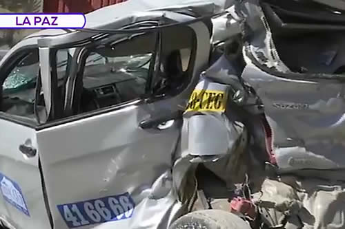La Paz: Tránsito informa que falla de frenos provocó choque múltiple en Bajo Tacagua