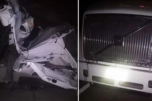 Colisión de minibús y camión en la carretera Oruro-Pisiga deja seis fallecidos