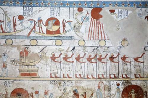 Descubren en Egipto una tumba con pinturas bien conservadas y animales momificados