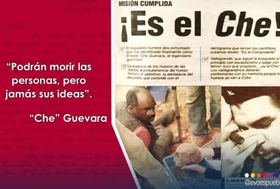 """Morales destaca espíritu revolucionario del """"Che"""" Guevara y su ejemplo de dignidad para defender la patria"""