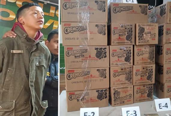 Atrapan infraganti a antisocial que vendía galletas robadas