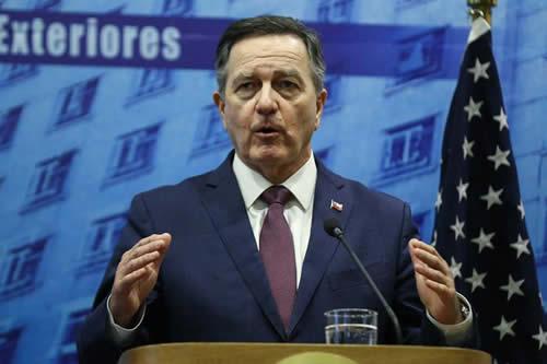 Venezuela centra la visita del secretario de Estado de EE.UU. a Chile