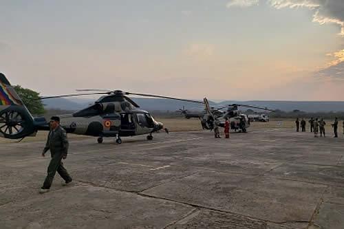 """Vicepresidente afirma que el esfuerzo boliviano es la """"columna vertebral"""" del combate a los incendios en la Chiquitania"""