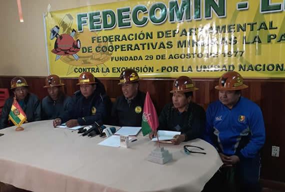 Fedecomin-La Paz pide evaluar el acuerdo político Gobierno-cooperativas