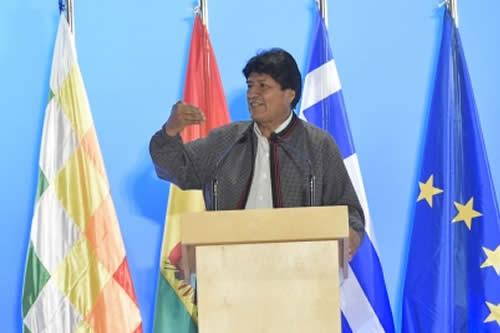 Morales plantea foro de fuerzas de izquierda de Europa y América Latina y recibe apoyo de Tsipras