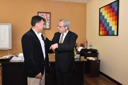 Embajador de Brasil expresa disponibilidad de cooperar técnicamente al Sistema Único de Salud de Bolivia