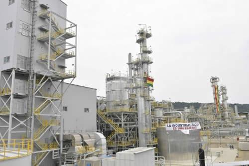Gobierno anuncia construcción de plantas de urea-formaldehído y de metanol