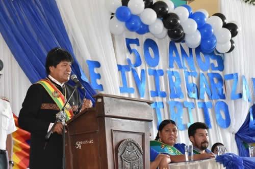 """Morales a legisladores de la oposición: pedir una intervención extranjera es """"traición a la Patria"""""""