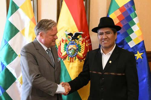 Bolivia y Alemania repasan agenda bilateral sobre cooperación, comercio y litio