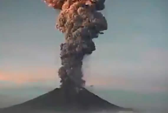 El volcán Popocatépetl registra una nueva explosión