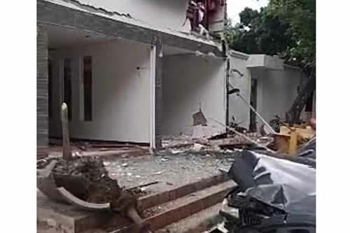 Explosión sacude el barrio de Equipetrol en Santa Cruz