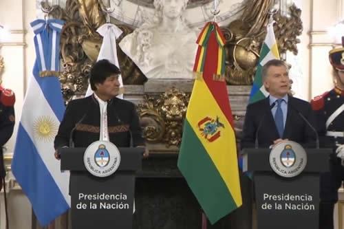 Macri y Morales llegan a la Casa Rosada para reunión bilateral