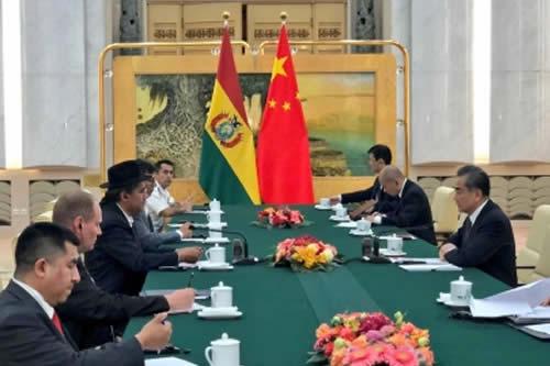 Cancilleres de Bolivia y China revisan agenda comercial y de cooperación