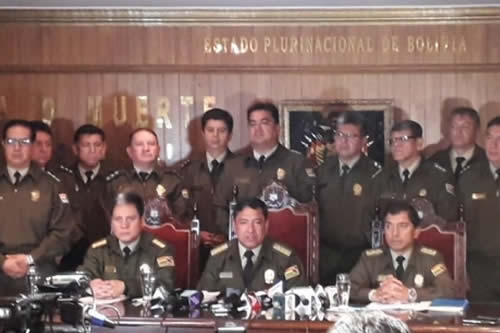 Policía determina suspender a todo el personal de la Fuerza de Lucha Contra el Crimen de Santa Cruz