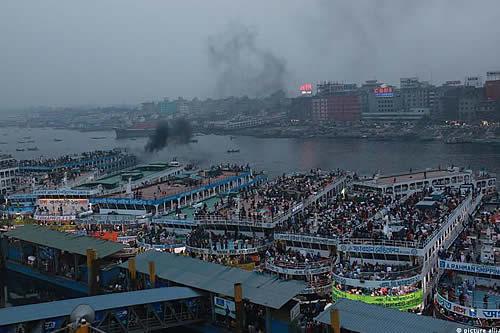 Se hunde un ferry en Bangladés tras chocar con otra embarcación
