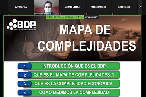 BDP socializa mapa de complejidades para el desarrollo productivo