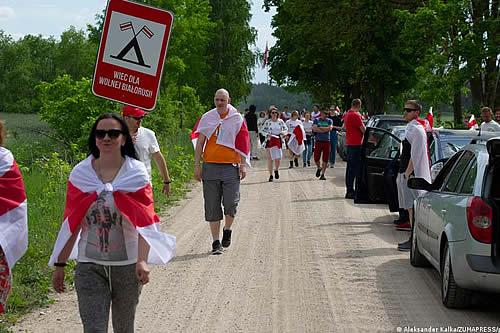 Bielorrusos exiliados en Polonia rechazan cierre de frontera
