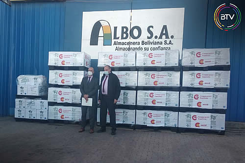 España dona a Bolivia medicamentos e insumos contra el COVID-19