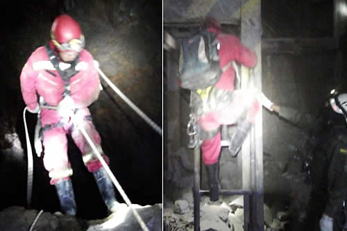 Buscan la manera de rescatar los cuerpos de dos mineros fallecidos en un yacimiento de Potosí