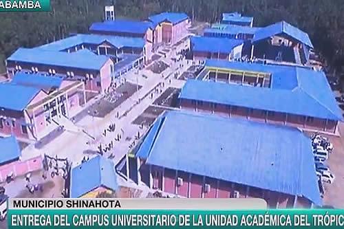 Escuela Militar de Ingeniería inaugura campus universitario en el trópico de Cochabamba