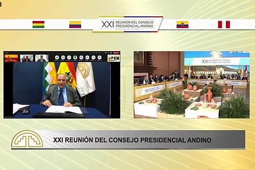 En Consejo Presidencial de la CAN, Bolivia plantea acceso equitativo a vacunas y medicamentos contra el COVID-19
