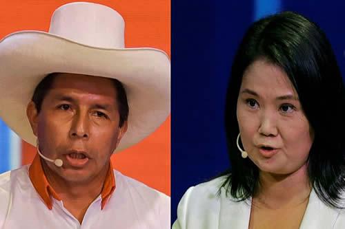 Balotaje en Perú: Pedro Castillo y Keiko Fujimori se cruzaron en un duro debate