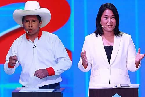 Keiko Fujimori acepta debatir con Pedro Castillo en Cajamarca