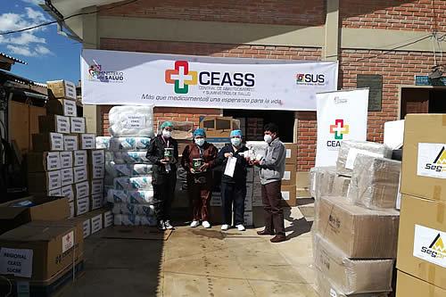 Salud entrega medicamentos e insumos a municipios de Beni y Chuquisaca para atención de pacientes COVID-19