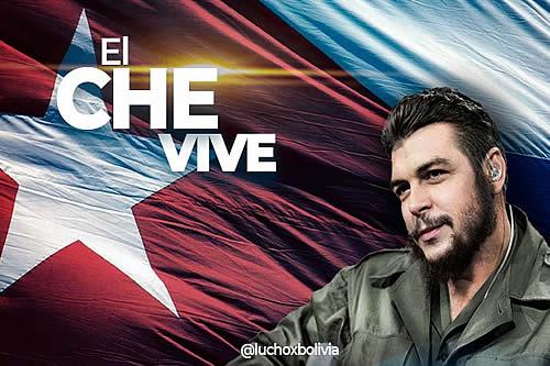 Presidente Arce resalta ideales del Che Guevara a 54 años de su asesinato