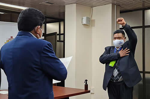 Sergio Choque, expresidente de Diputados, asume la gerencia de Mi Teleférico
