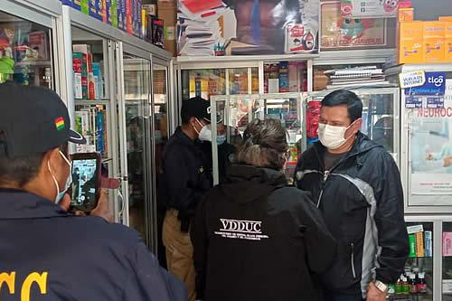 Defensa del Consumidor identifica farmacias ilegales en la ciudad de El Alto
