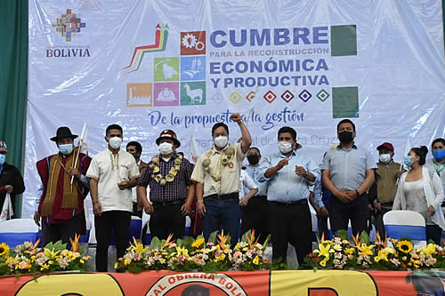Presidente inaugura quinta Cumbre para la Reconstrucción Económica y Productiva en Santa Cruz