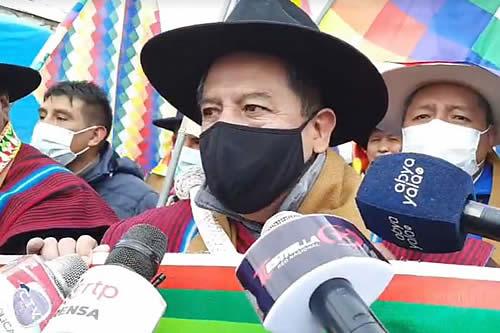 Choquehuanca sobre las movilizaciones: 'ellos están buscando impunidad, el pueblo busca justicia'