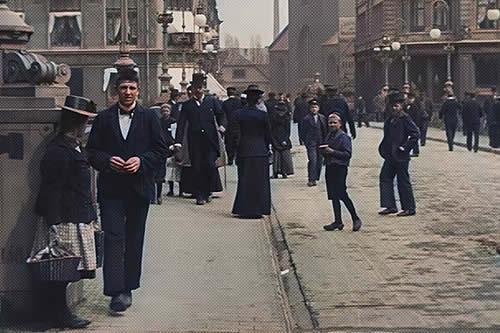 Restauran a color y en alta calidad raras imágenes de Dinamarca de hace más de un siglo