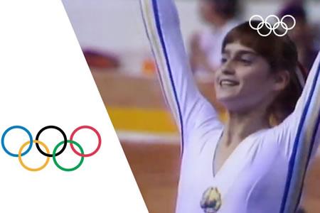 Nadia Comaneci la primera en sacar puntuación perfecta en los Juegos Olímpicos Montreal 1976