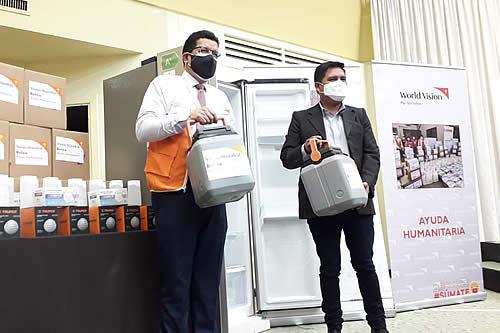 Visión Mundial entrega equipos de cadena de frío a 42 municipios de Bolivia