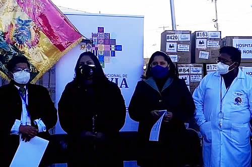Ministerio de Salud dona equipamiento e insumos médicos al Hospital del Norte en El Alto