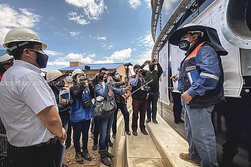 Proyecto de ampliación del sistema de agua potable para nuevas urbanizaciones culminará a fin de año en Oruro