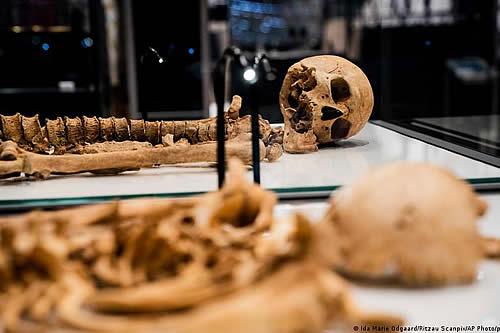 Guerrero vikingo se reencuentra con su pariente mil años más tarde en Dinamarca