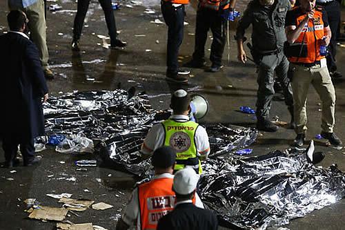 Estampida en celebración religiosa en Israel deja decenas de fallecidos