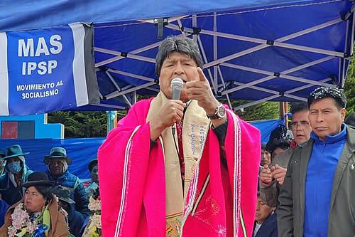 Evo Morales propone encuentro de autoridades subnacionales para trabajo conjunto sobre salud y economía